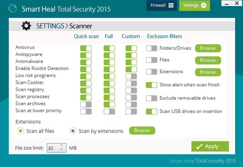 Smart heal Total security