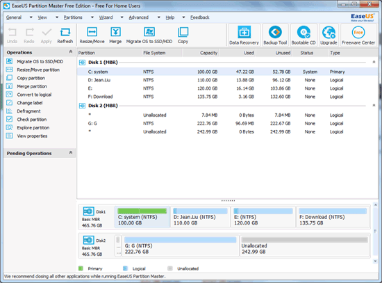 EaseUS Partition Master Free 12.9 Download for Windows ...