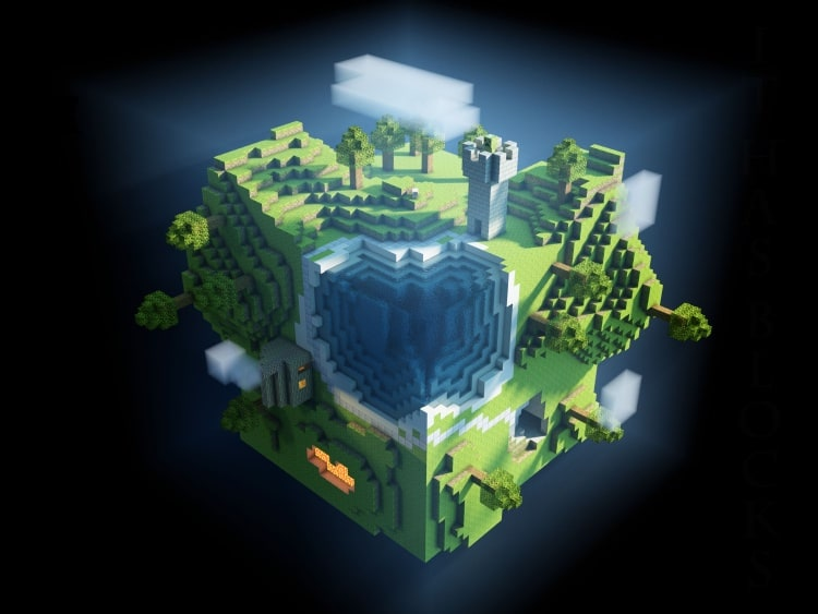 Minecraft Landschaften Wallpaper