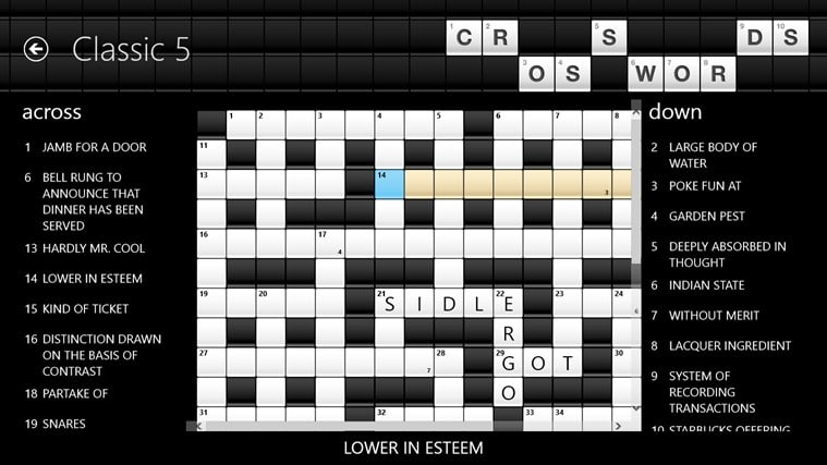 Crosswords for Windows 10