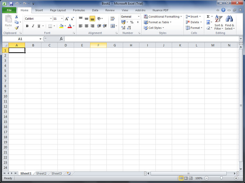 Microsoft Excel For For Windows 7