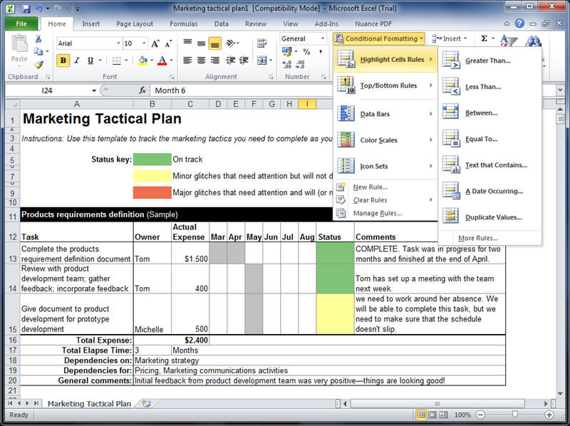 microsoft excel trial version 2010