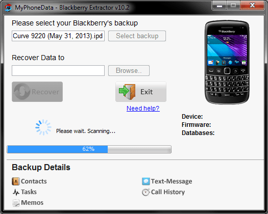 Blackberry Extractor
