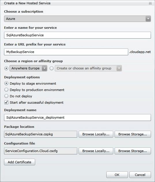 dbForge SQL Azure Backup