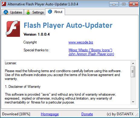 AAlternative Flash Player Auto-Updater