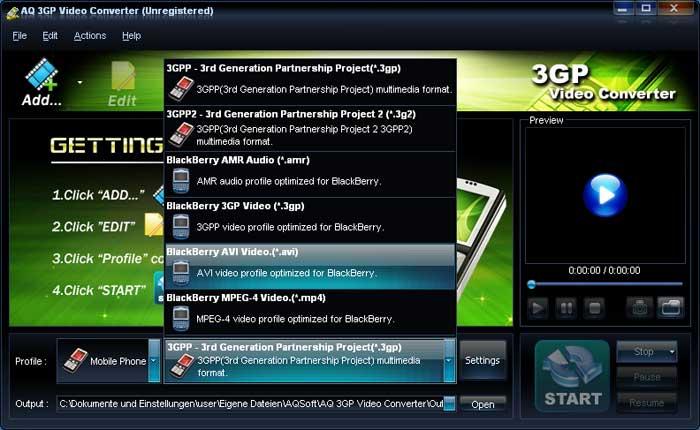 AQ 3GP Video Converter