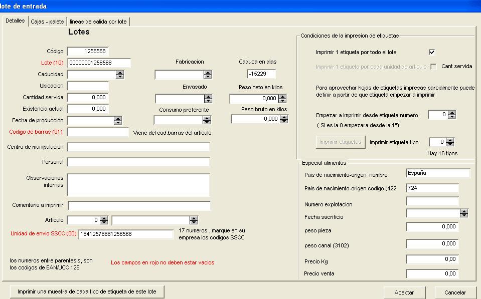 Trazabilidad 3000 web
