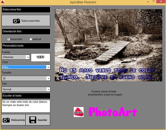 AplicWeb PhotoArt