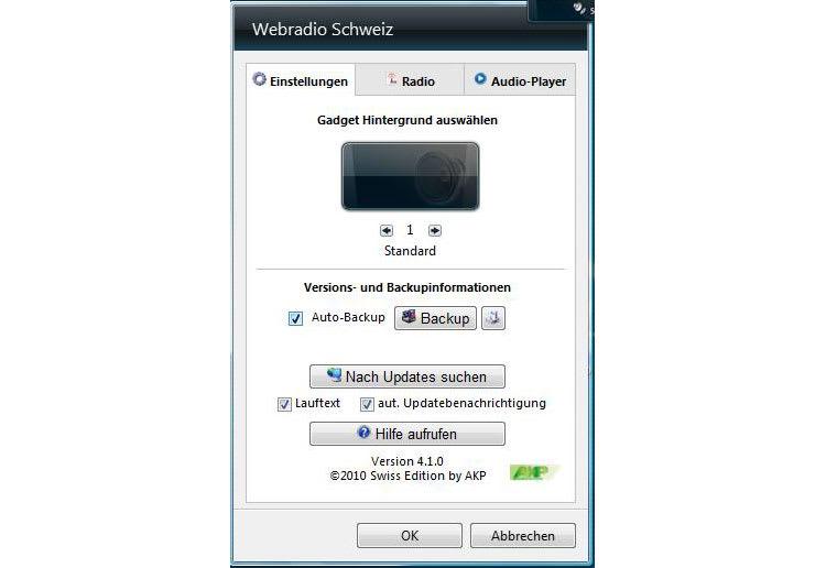Webradio Gadget Schweiz