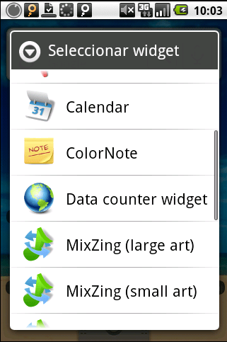 Data Counter Widget