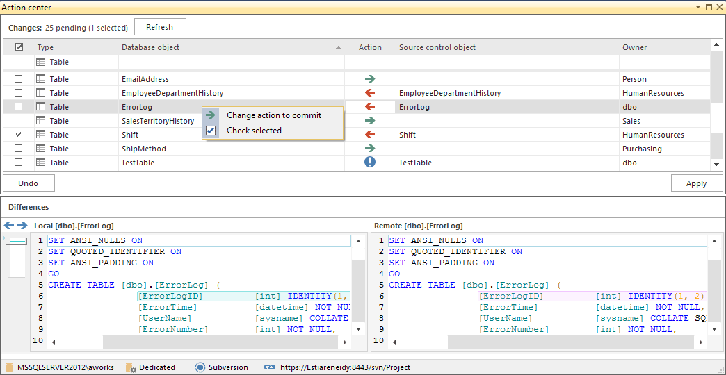ApexSQL Source Control