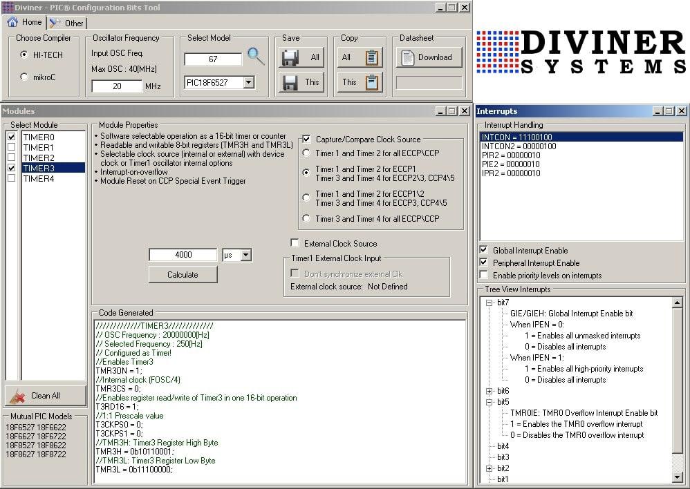 Diviner - PIC Configuration Bits Tool