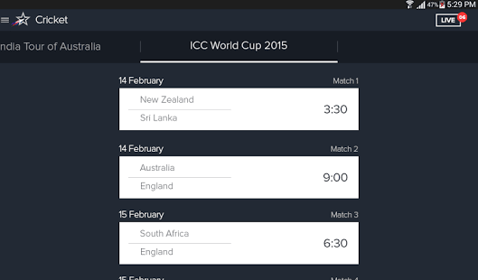 Star Sports Cricket Scores