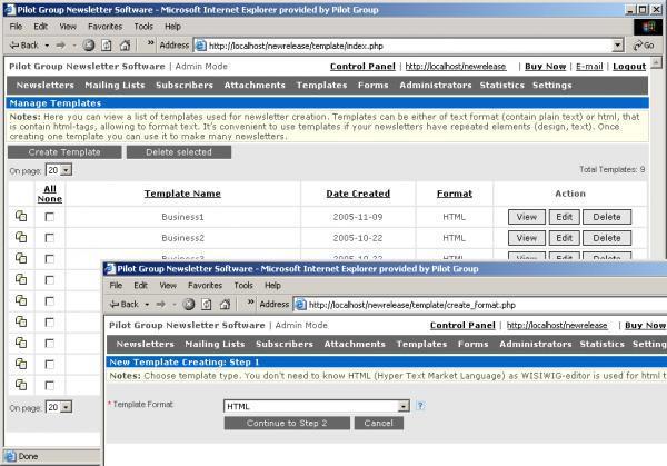 Pilot Newsletter Software
