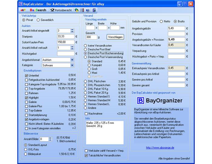 BayCalculator