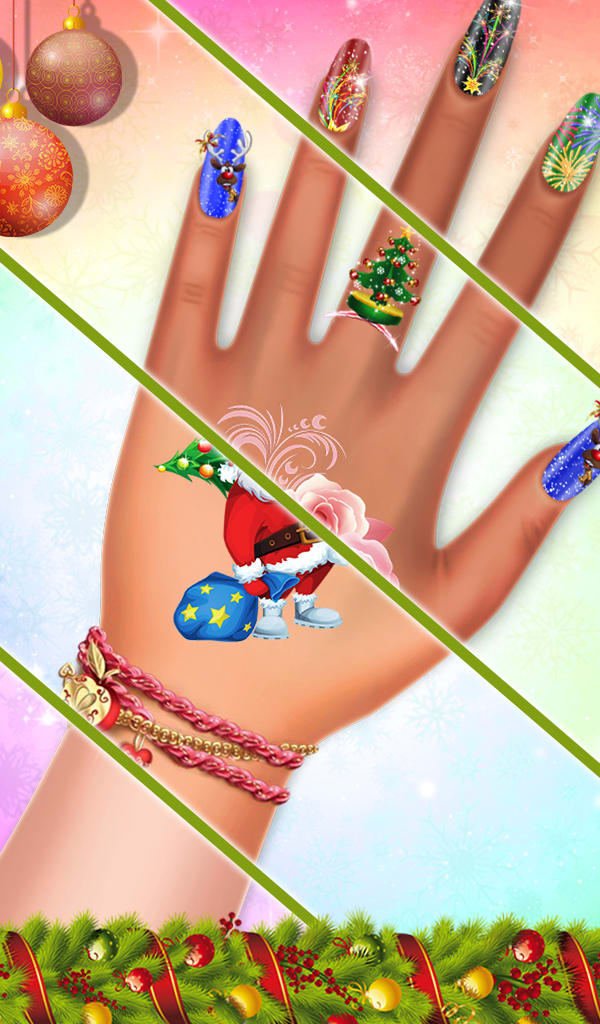 Christmas Nail Salon Makeover