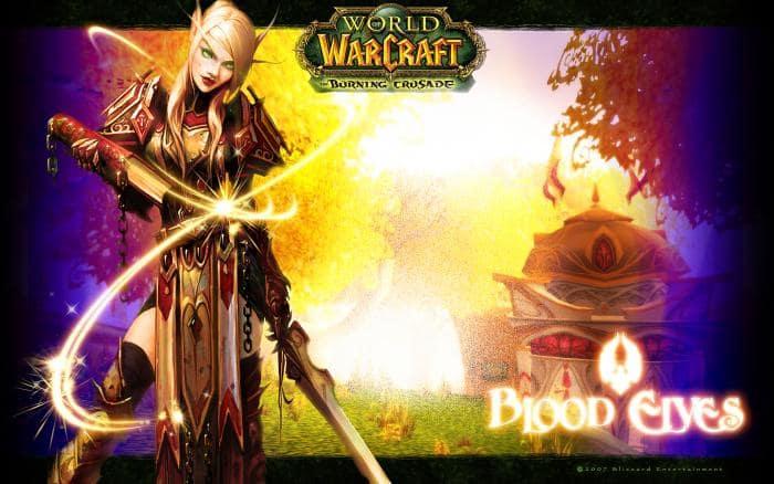 Fond d'écran World of Warcraft – Les elfes de sang