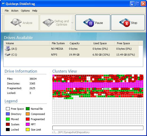 Quicksys DiskDefrag