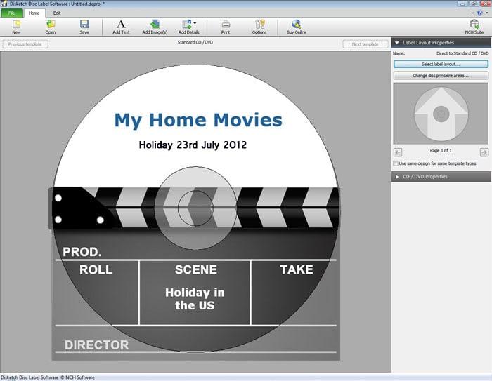 Disketch CD/DVD Label Maker for Mac