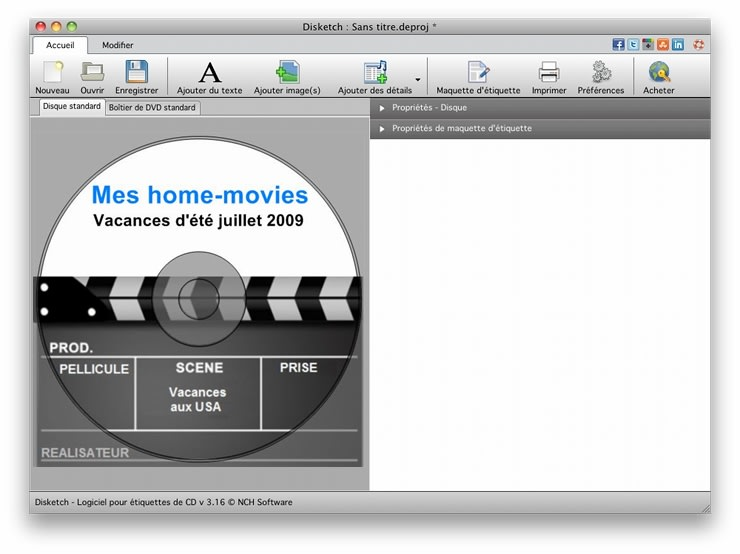 Disketch CD/DVD Label Maker for Mac