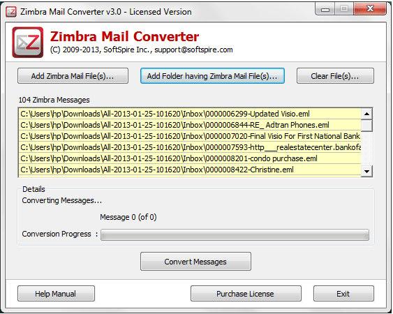 Zimbra Mail Converter