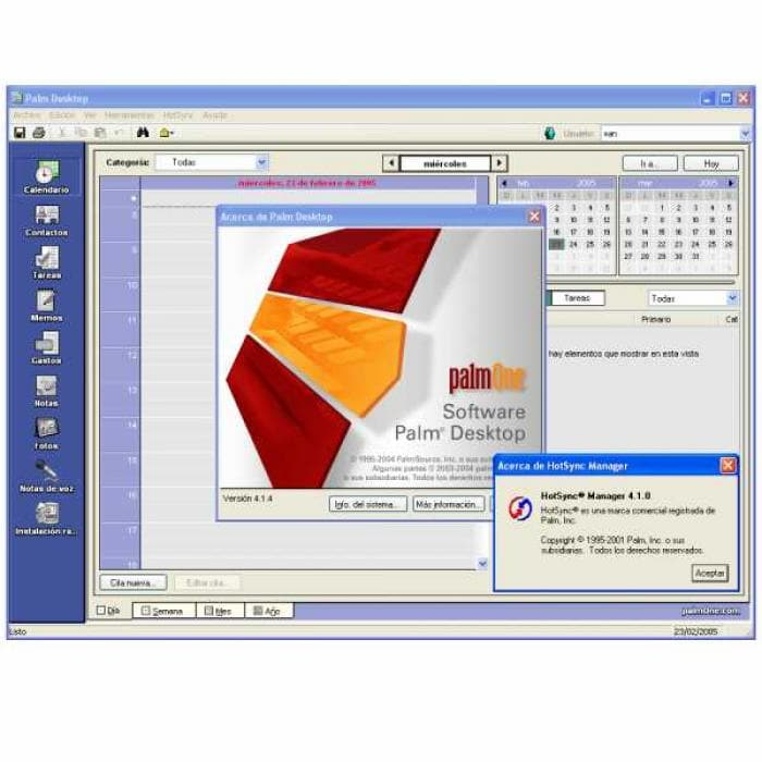 Palm Desktop 4.1.4E para Windows