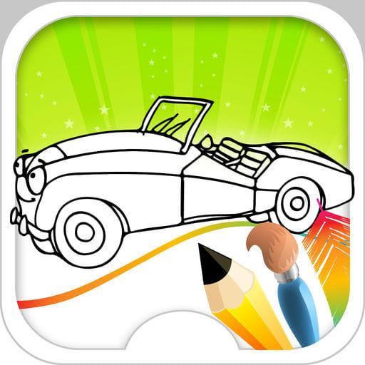 Sport Car Coloring Book