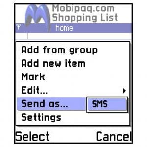 Mobipaq Shopping List