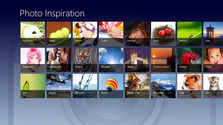 Photo Inspiration for Windows 10