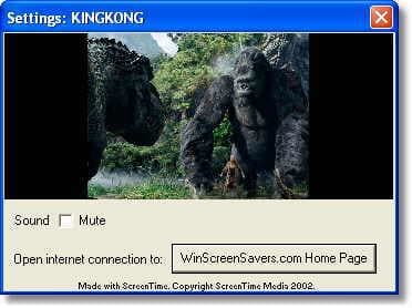 King Kong Screensaver