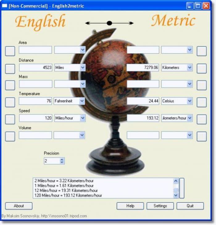 English2metric