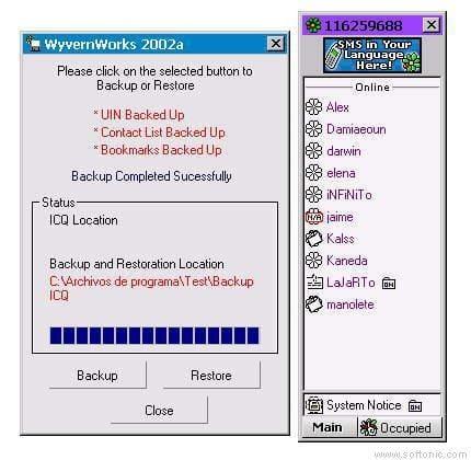 WyvernWorks Backup ICQ