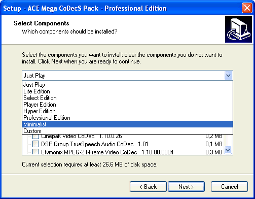 ACE Mega Codec Pack