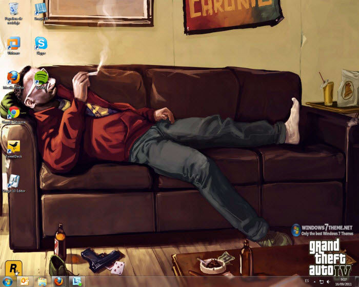 Tema di Grand Theft Auto per Windows 7
