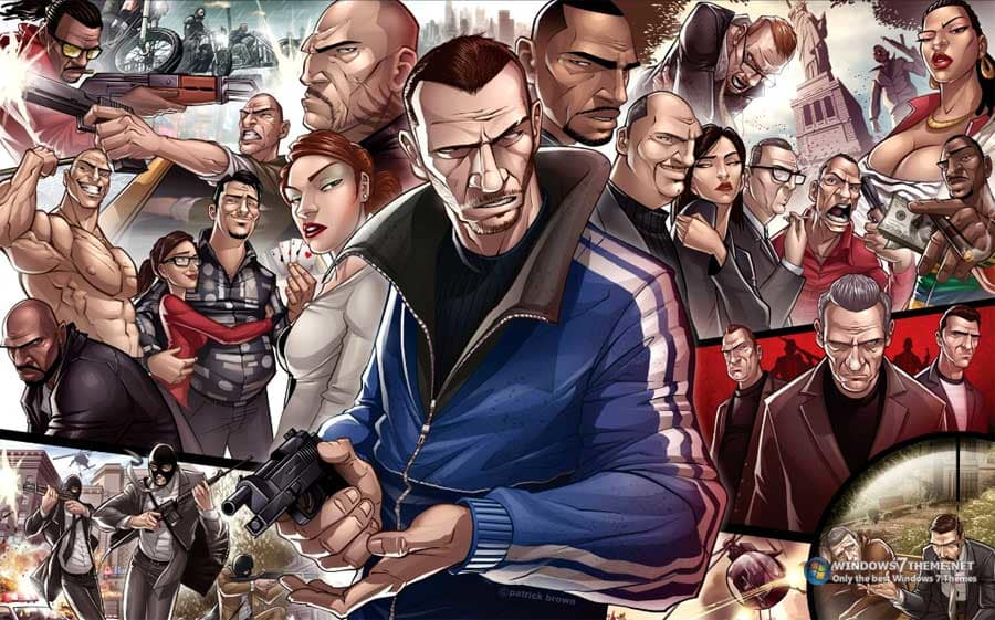 Grand Theft Auto Windows 7 theme