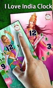 I Love India Clock & Alarm LWP