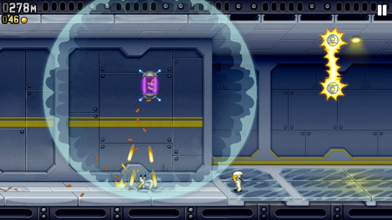 Jetpack Joyride, a Repetitive But Addictive Game
