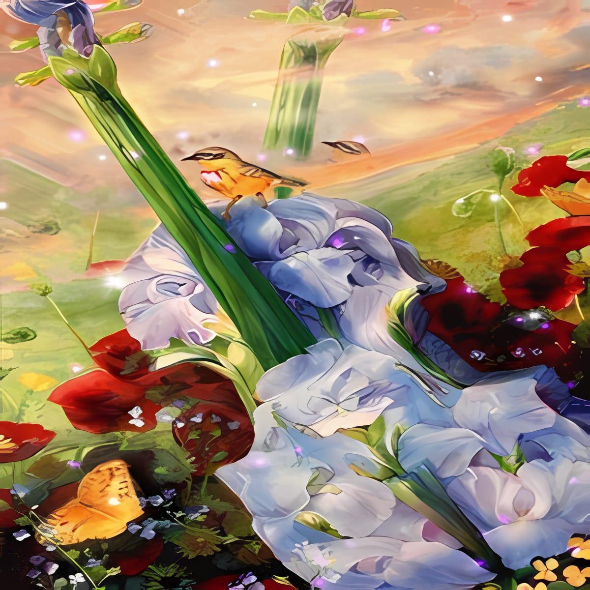 Jardín de flores Guitarra