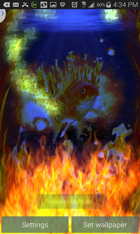 Fish On Fire Live Wallpaper