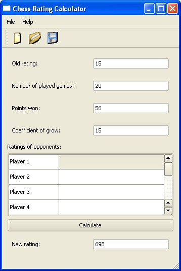 Chess Rating Calculator