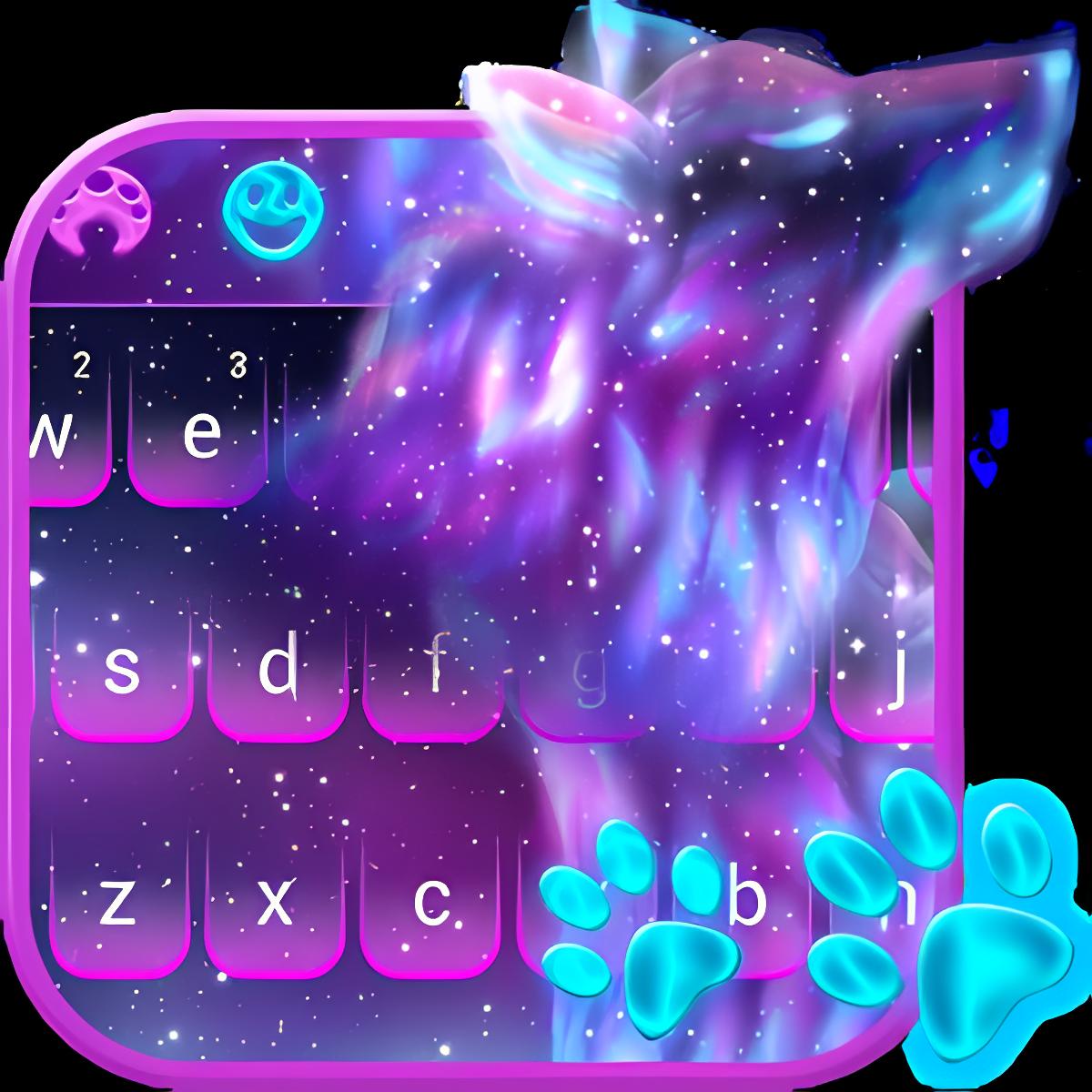 Night Sky Spirit Wolf Keyboard 10001001