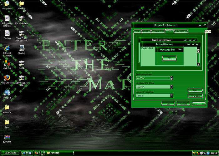 Enter the Matrix Theme