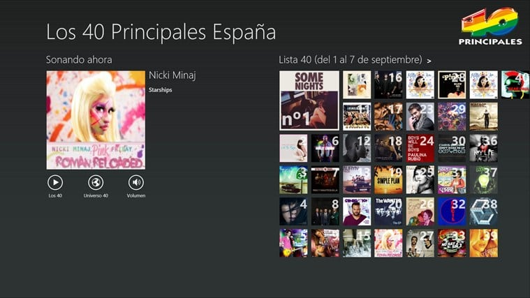 Los 40 Principales para Windows 10