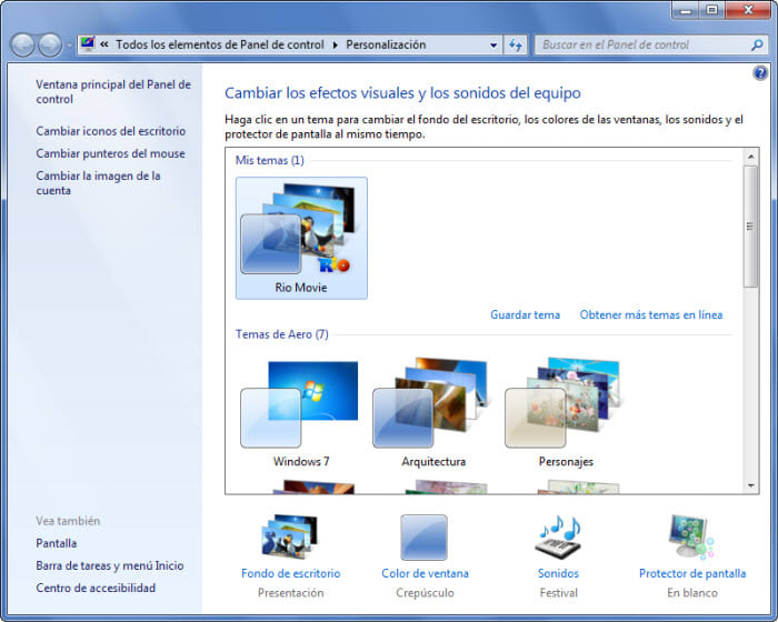 Rio Tema para Windows 7