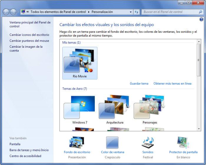 Rio - Thème pour Windows 7