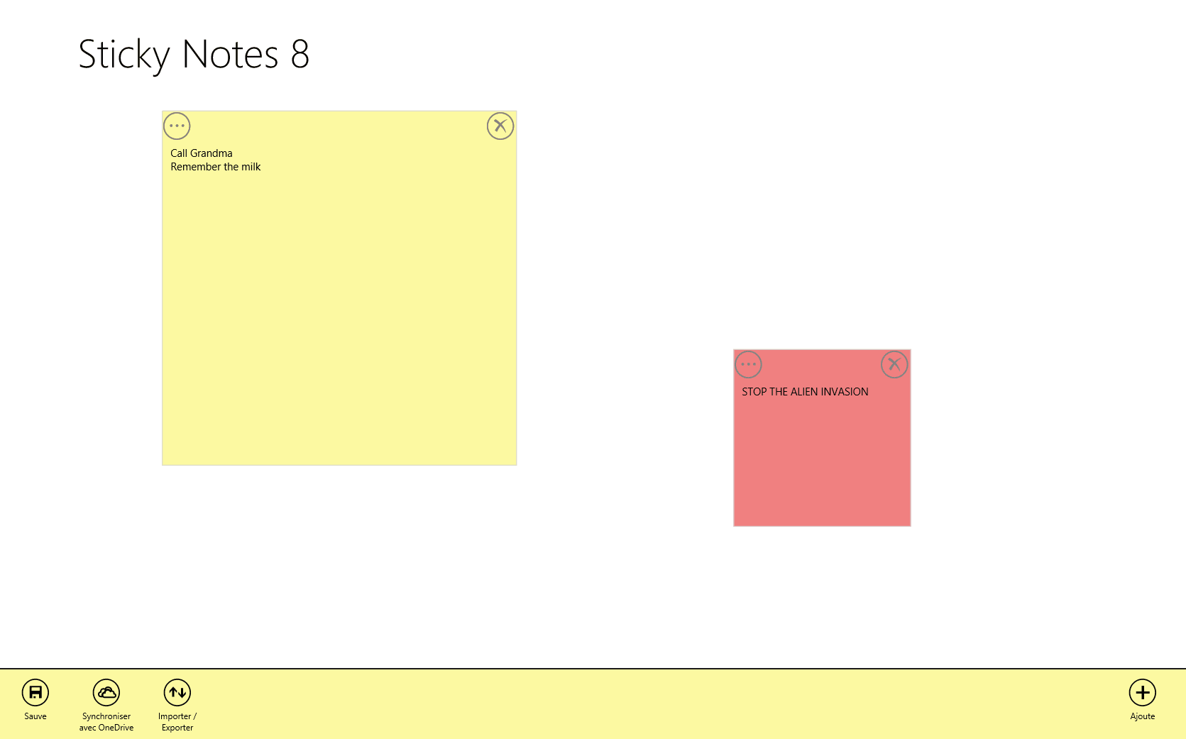 Sticky Notes 8 for Windows 10