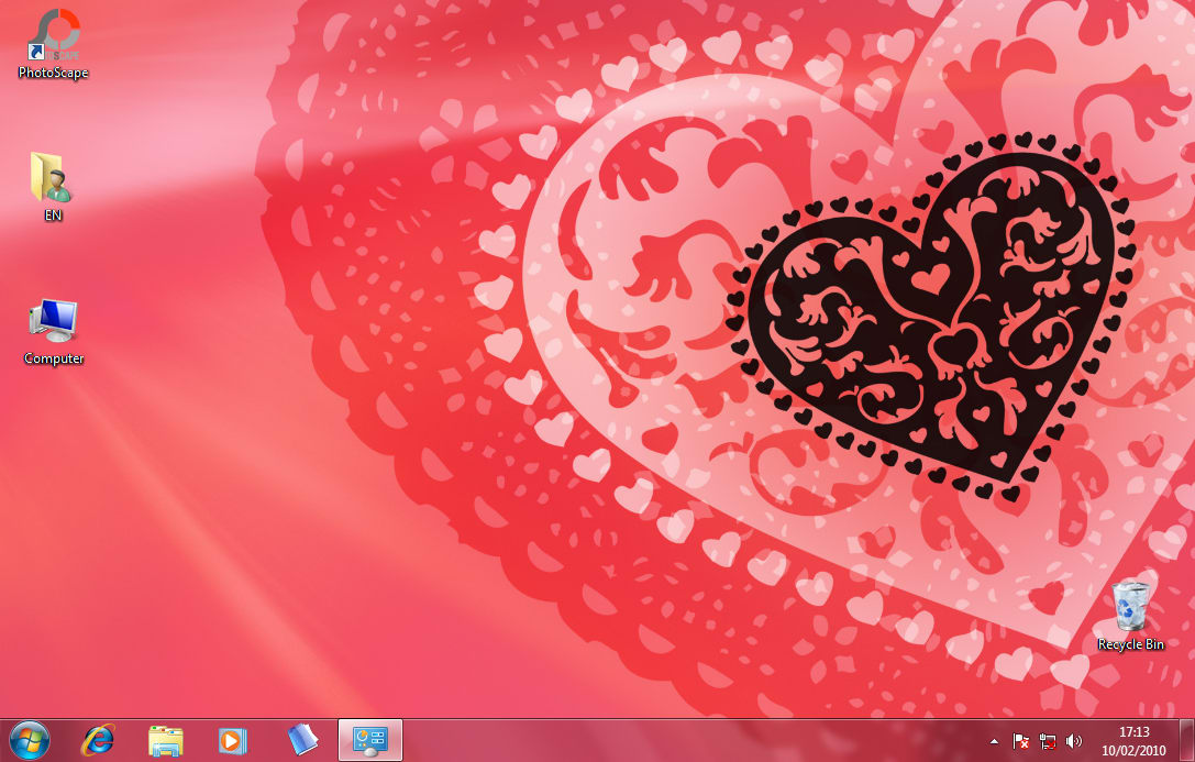 Valentine Windows 7 Theme
