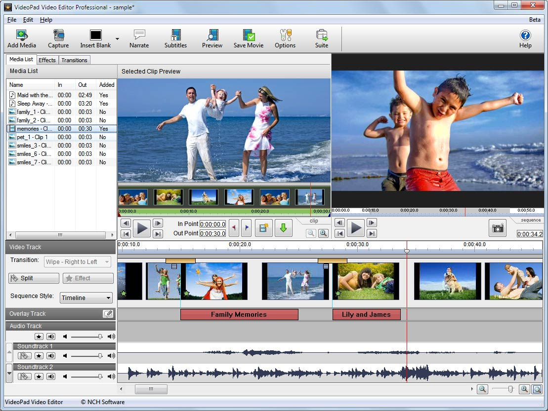 VideoPad Video Editor For Mac