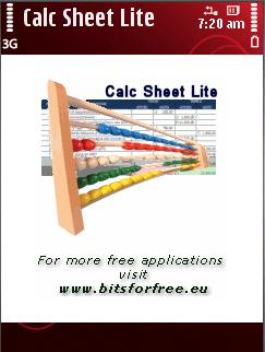 Calc Sheet Lite