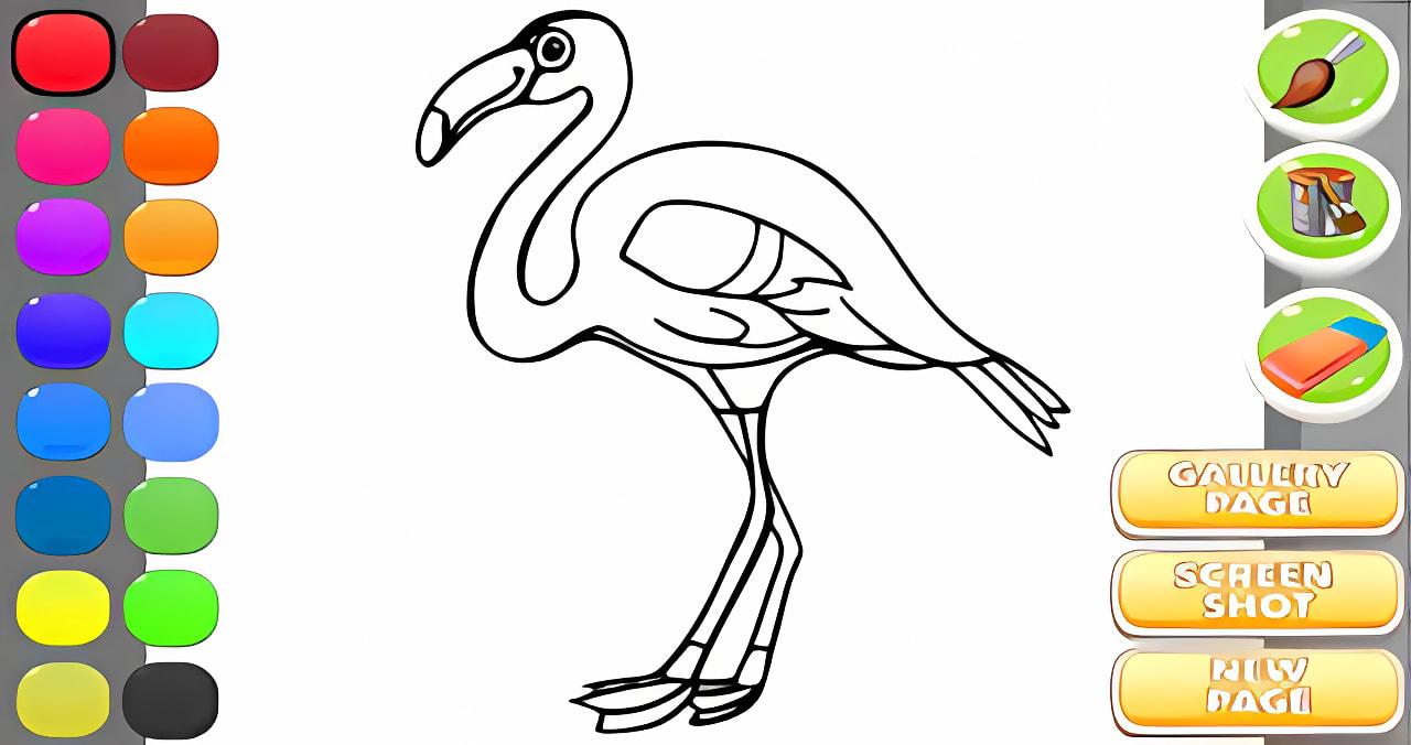 Stork Coloring Book